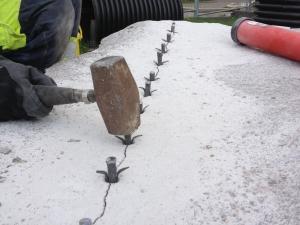Kilning granitblock
